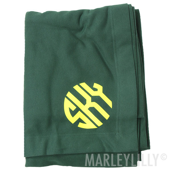BLOOPER: Monogrammed Sweatshirt Blanket