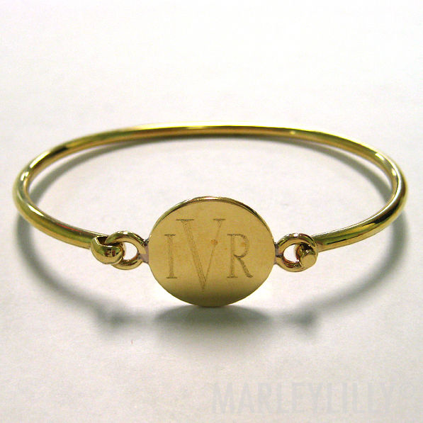 BLOOPER: Monogrammed German Silver Taylor Bracelet
