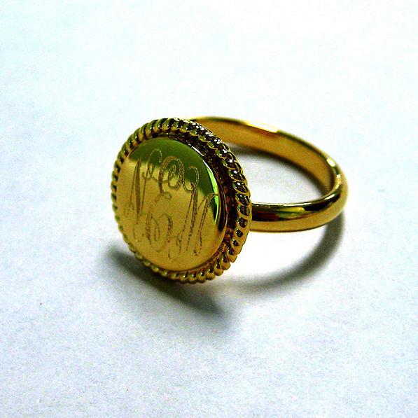 BLOOPER: Monogrammed 14K Vermeil Lana Ring