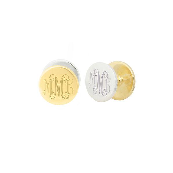 Monogrammed Reversible Disc Earrings