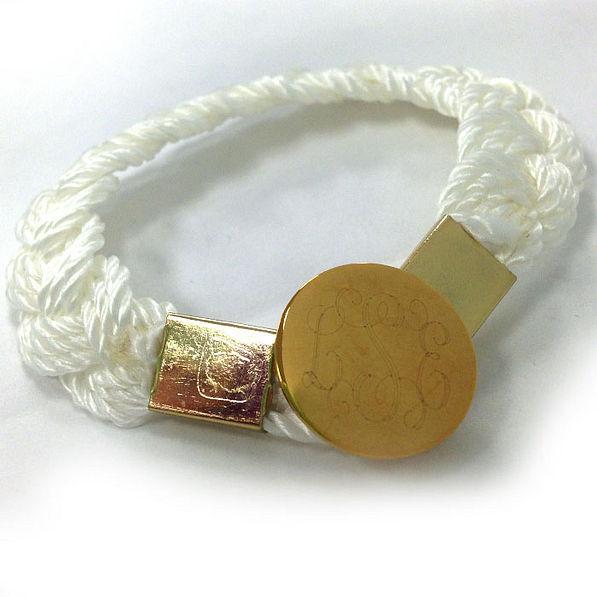 BLOOPER: Monogrammed Nautical Nantucket Braided Rope Bracelet