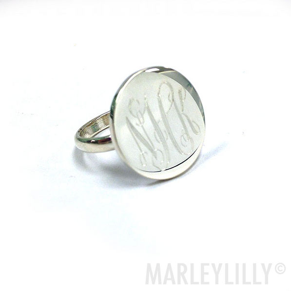 BLOOPER: Monogrammed Indy Ring