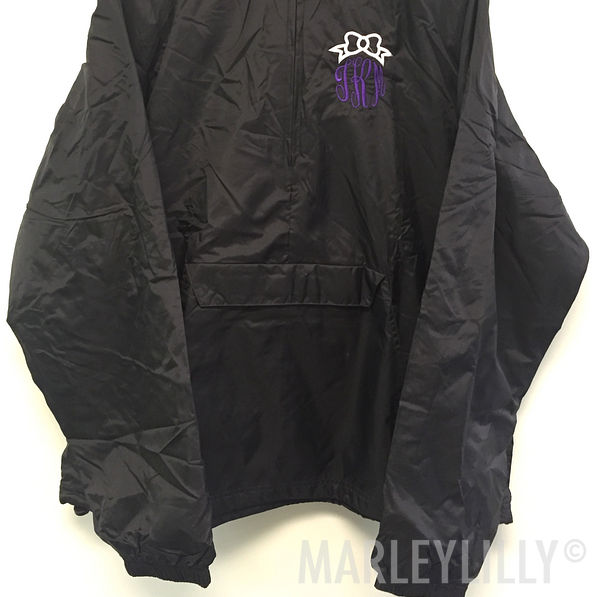 BLOOPER: Monogrammed Bow Pullover Rain Jacket