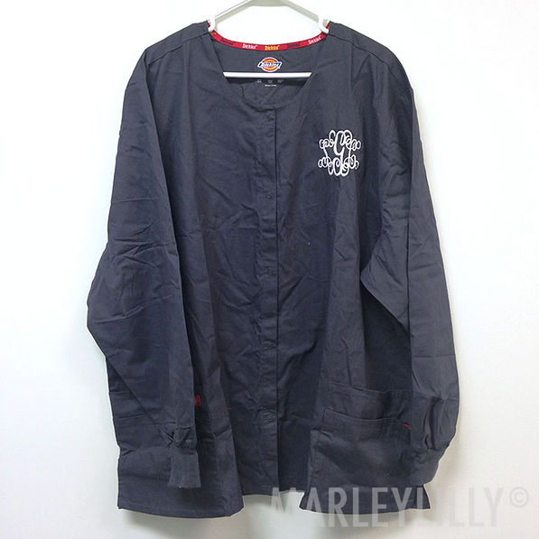BLOOPER: Monogrammed Dickies Round Neck Scrub Jacket