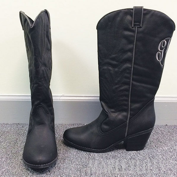 BLOOPER: Monogrammed Cowboy Boots