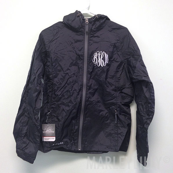 BLOOPER: Monogrammed Eddie Bauer Windbreaker Jacket