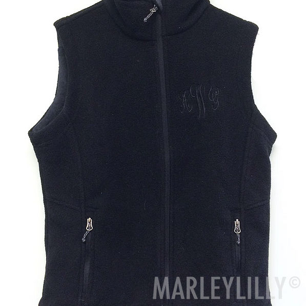 BLOOPER: Monogrammed Fleece Vest