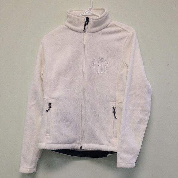 BLOOPER: Monogrammed Fleece Jacket
