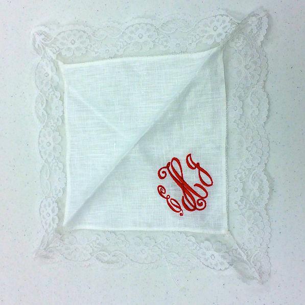 BLOOPER: Monogrammed Bridal Handkerchief