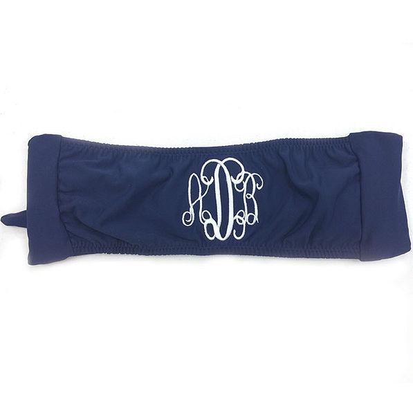 BLOOPER: Monogrammed Bathing Suit Bandeau Tube Top