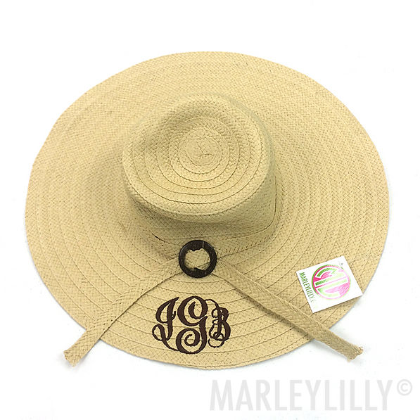 BLOOPER: Monogrammed Derby Hat with Sash