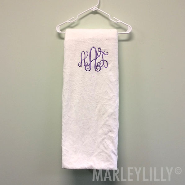 BLOOPER: Monogrammed Lounge Chair Cover