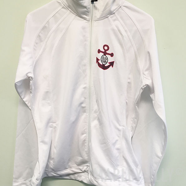 BLOOPER: Monogrammed Dry Sport Zip Up Jacket