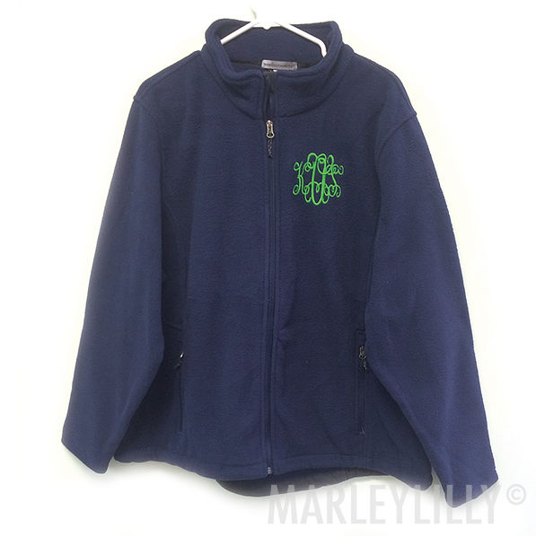 BLOOPER: Monogrammed Fleece Jacket