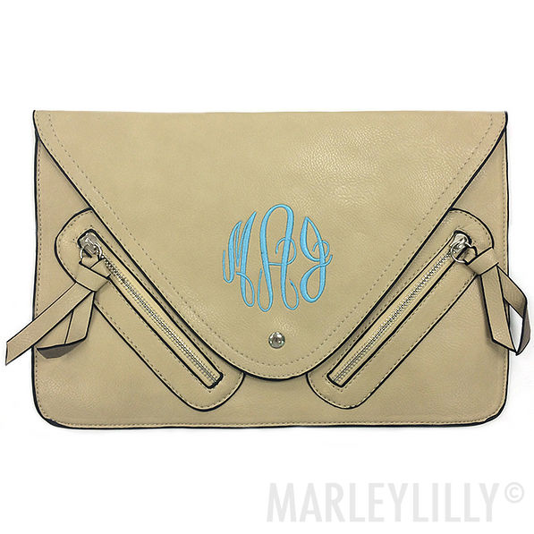 BLOOPER: Monogrammed Peyton Clutch