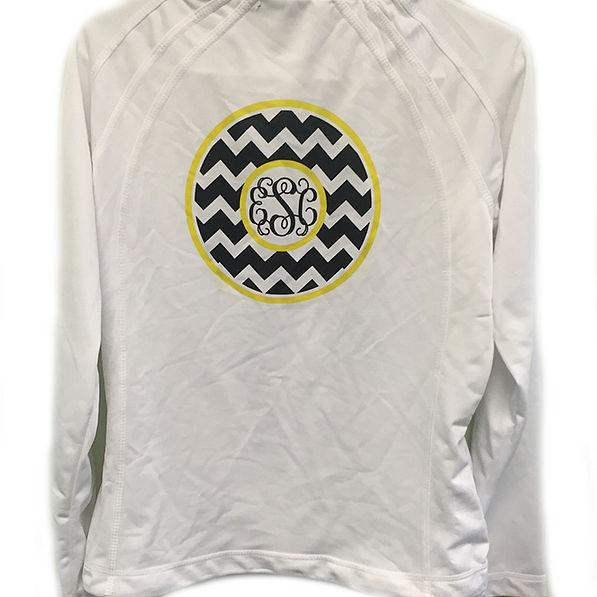 BLOOPER: Monogrammed Dry Sport Zip Up Jacket
