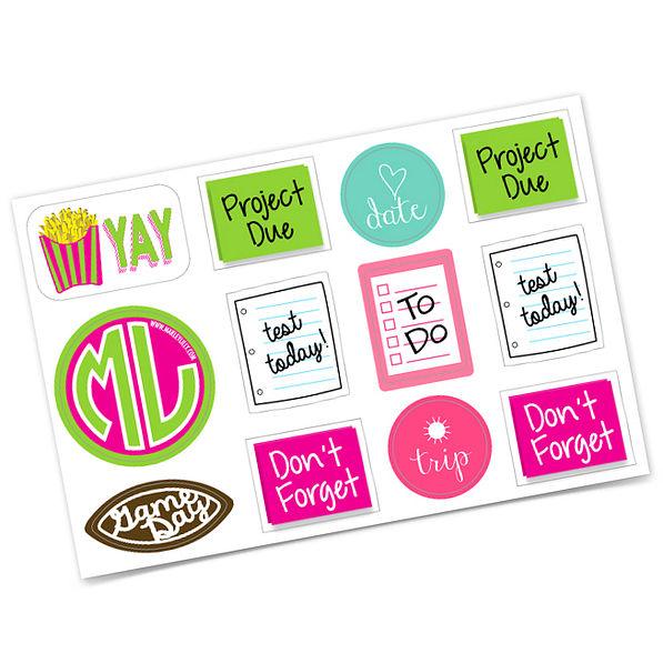 Marleylilly Agenda Sticker Set