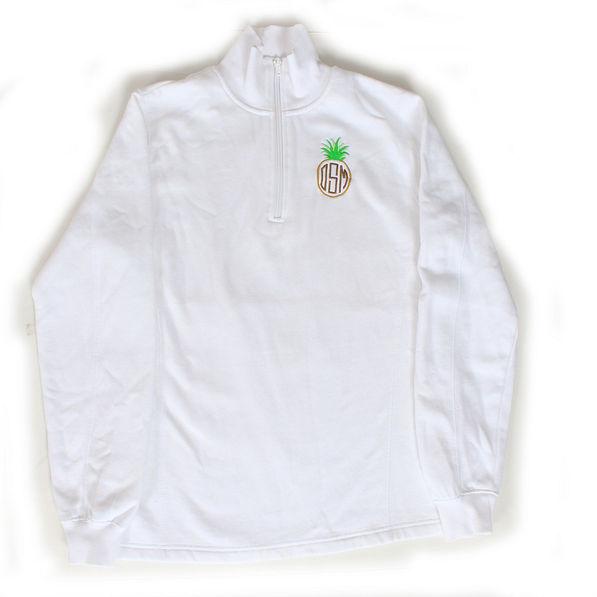 BLOOPER: Monogrammed Pullover Sweatshirt