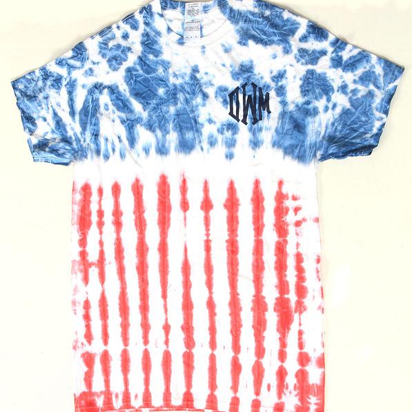 BLOOPER: Monogrammed USA Flag Tie Dye T-Shirt