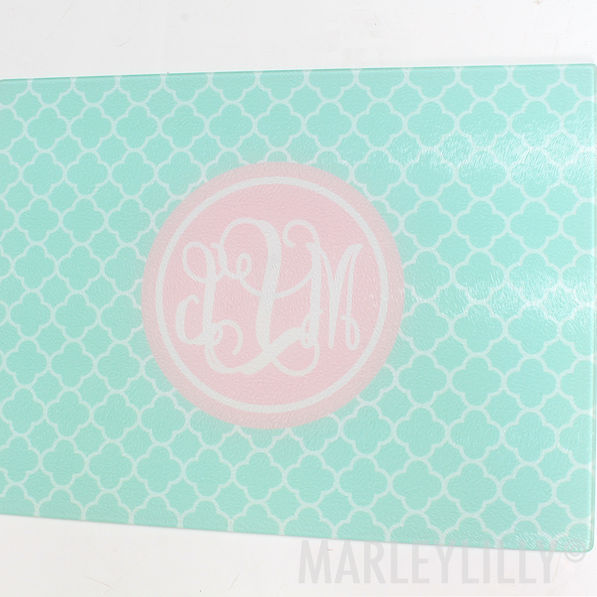 BLOOPER: Monogrammed Large Glass Cutting Board