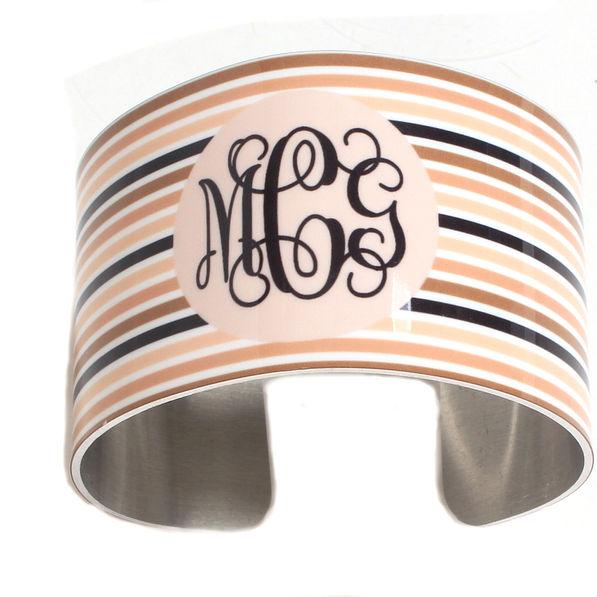 BLOOPER: Monogrammed Cuff Bracelet