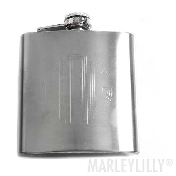 BLOOPER: Monogrammed Engraved Drink Flask