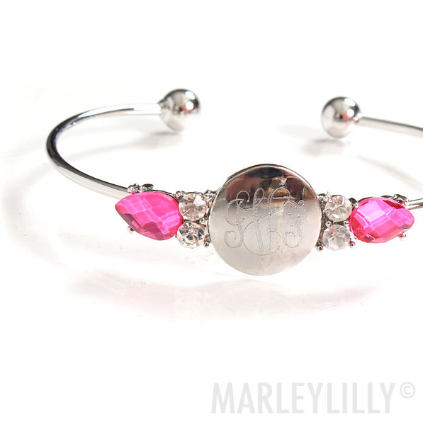 BLOOPER: Monogrammed Teardrop Bracelet