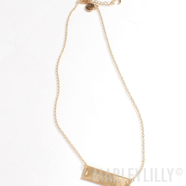 BLOOPER: Monogrammed Name Plate Necklace