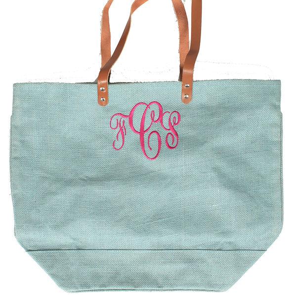 BLOOPER: Monogrammed Large Jute Bag