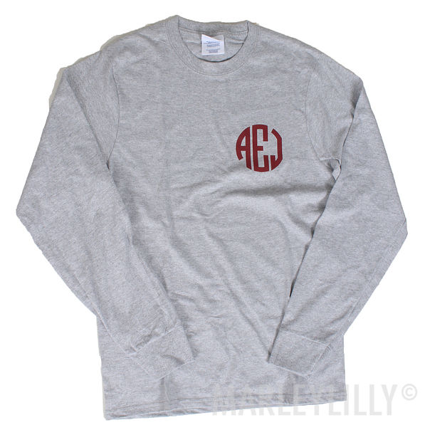 BLOOPER: Monogrammed Long Sleeve Shirt
