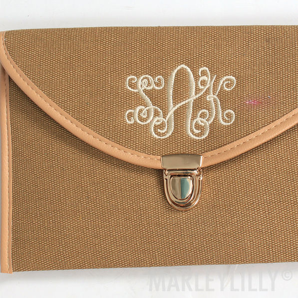 BLOOPER: Monogrammed Luxe Cross Body Clutch