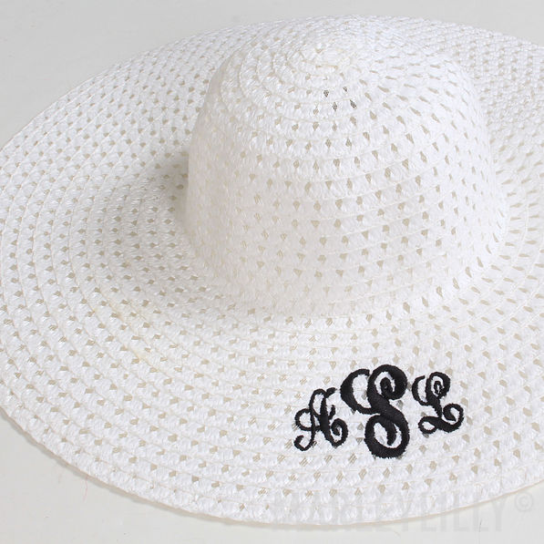 BLOOPER: Monogrammed Breezy Floppy Hat