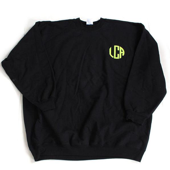BLOOPER: Monogrammed Chest Crewneck Sweatshirt