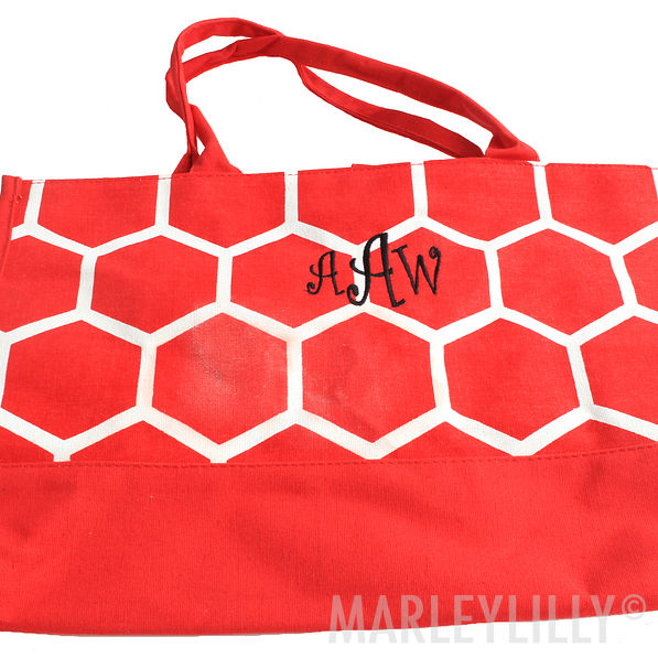 BLOOPER: Monogrammed Open Tote Bag
