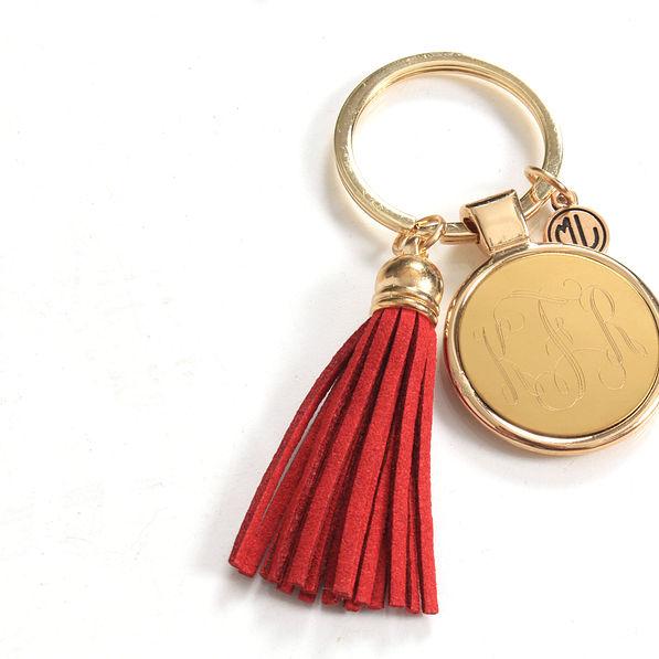 BLOOPER: Monogrammed Tassel Key Chain