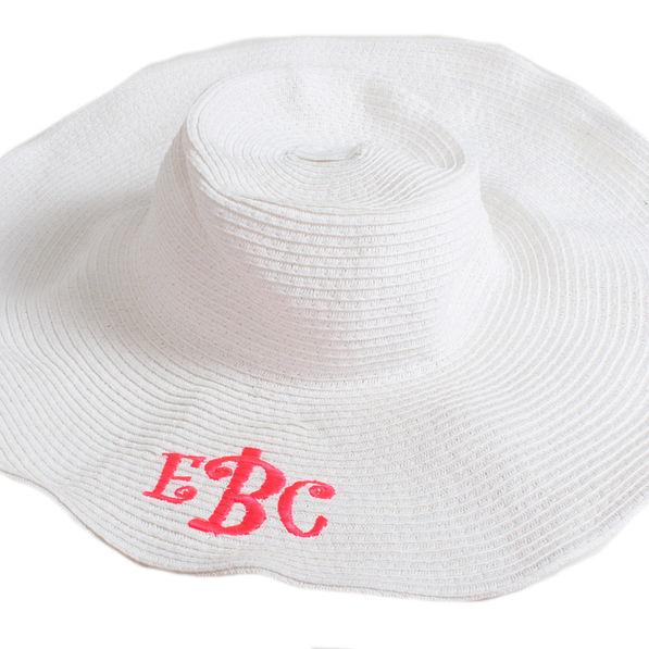 BLOOPER: Monogrammed Wide Derby Hat