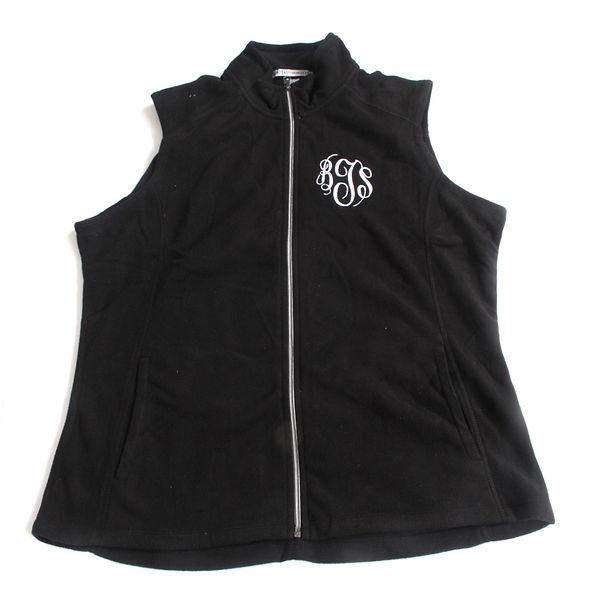 BLOOPER: Monogrammed Microfleece Vest