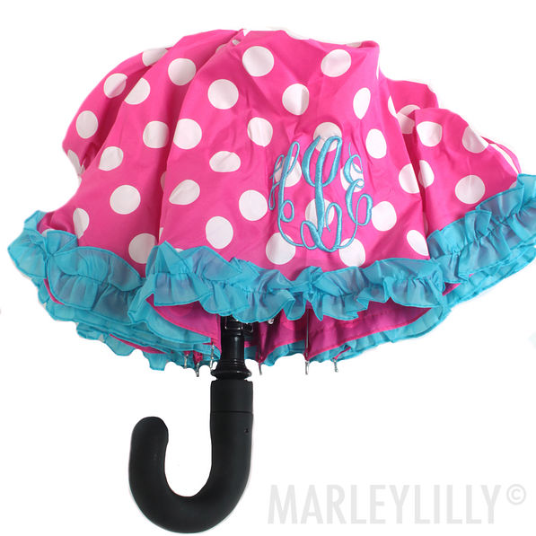 BLOOPER: Monogrammed Umbrella