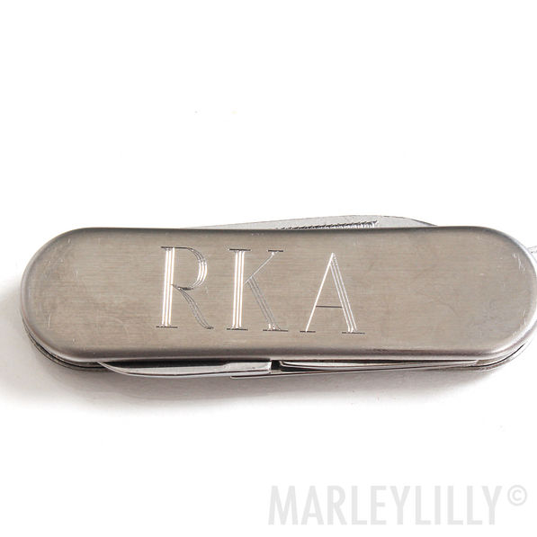 BLOOPER: Monogrammed Small Stainless Pocket Knife Key Chain