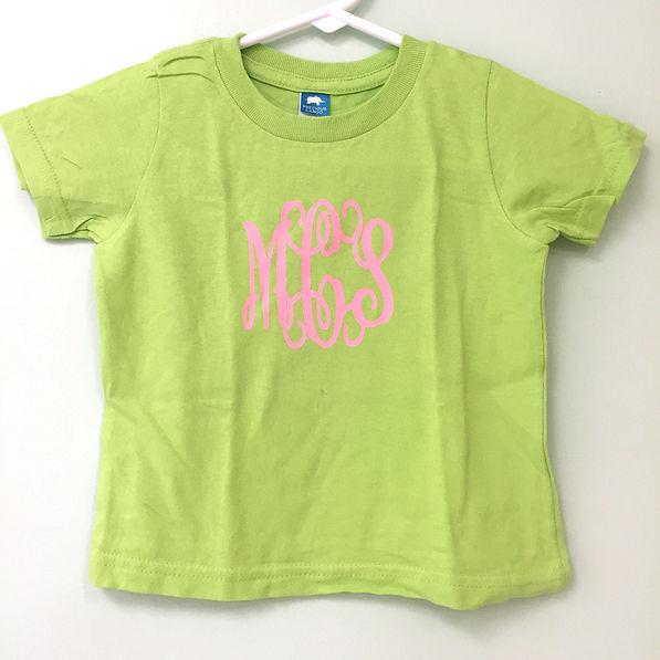 BLOOPER: Monogrammed Infant and Toddler Short Sleeve T-Shirt