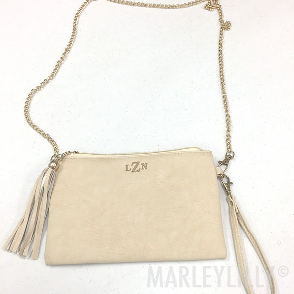 BLOOPER: Monogrammed Downtown Tassel Purse