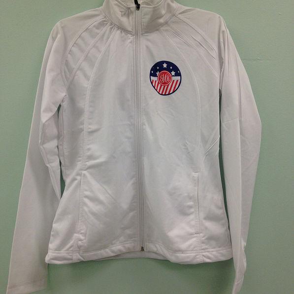 BLOOPER: Monogrammed Printed Jacket