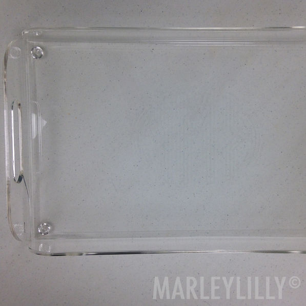 BLOOPER: Monogrammed Acrylic Large Tray With Handles
