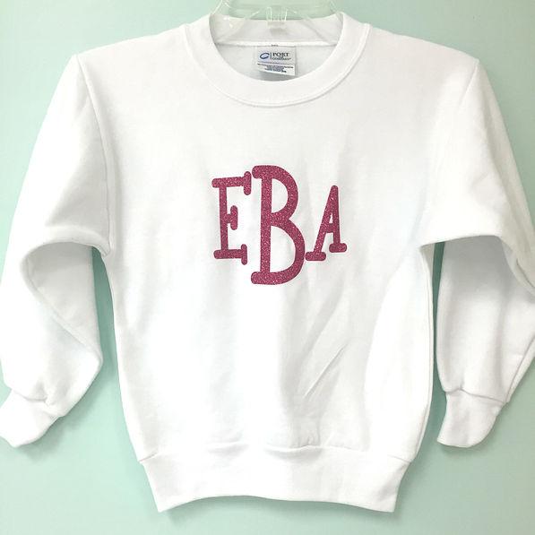 BLOOPER: Monogrammed Youth Crewneck Sweatshirt