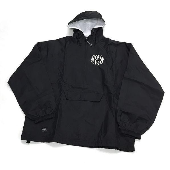 BLOOPER: Monogrammed Lightweight Pullover Rain Jacket
