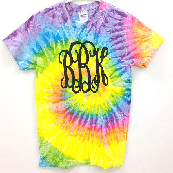 BLOOPER: Monogrammed Pastel Tie Dye T-Shirt