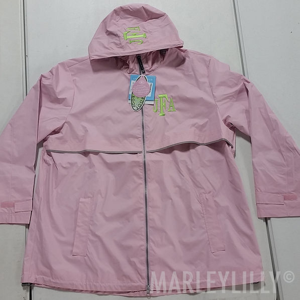 BLOOPER: Monogrammed New England Rain Jacket