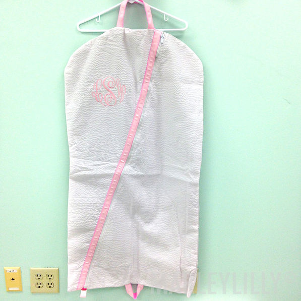 BLOOPER: Monogrammed Hanging Garment Bag