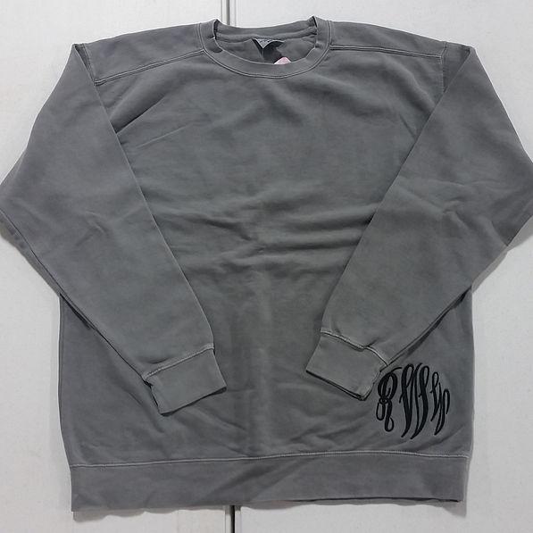 BLOOPER: Monogrammed Comfort Colors Sweatshirt