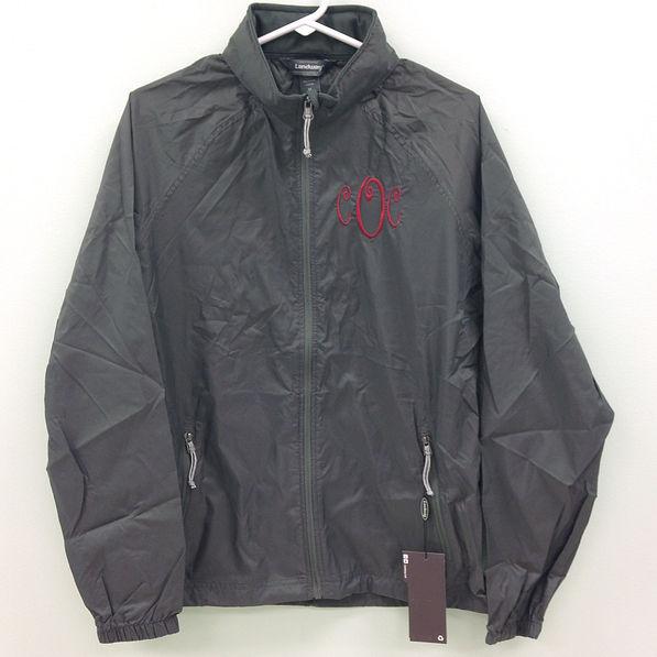BLOOPER: Monogrammed Windbreaker Jacket